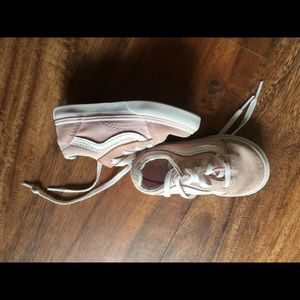 Girls pink and white Vans